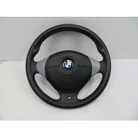 BMW Z3 M Roadster E36 #1059 3-Spoke Leather Steering Wheel & Airbag Black/Grey
