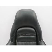 1997-2004 Chevrolet Corvette C5 #1063 Passenger Seat Leather Backrest Cushion Black