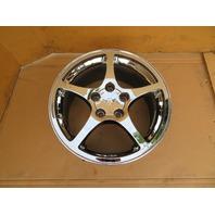 97-04 Chevrolet Corvette C5 #1063 17 x 8.5 Front Polished 5-Spoke Wheel OEM