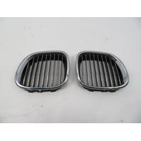 01 BMW Z3 Roadster E36 #1064 Left Right Hood Kidney Grill Pair OEM