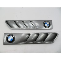 01 BMW Z3 Roadster E36 #1064 Hood Grill Gill Set Exterior Pair Grey OEM