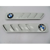 97 BMW Z3 Roadster E36 #1065 Hood Grill Gill Set Exterior Pair White OEM