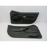 BMW Z3 M Roadster E36 #1066 Black Nappa Door Panel W/O Airbag Pair Left Right