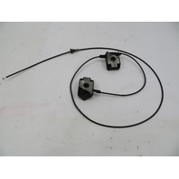 98 BMW Z3 M Roadster E36 #1066 Hood Release Lock Latch Pair & Cable OEM
