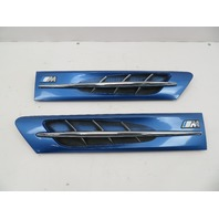 98 BMW Z3 M Roadster E36 #1066 Hood Grill Gill Set Exterior Pair White OEM