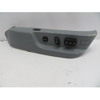 98-03 BMW 540i E39 #1067 Power Seat Switch & Track Cover, Grey Passenger Front