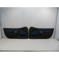 BMW Z3 M Roadster E36 #1069 Black/Blue Nappa Door Panel W/ Airbag Pair