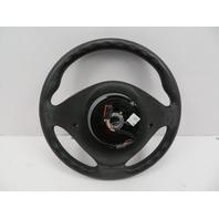 BMW Z3 M Roadster E36 #1069 3-Spoke Leather Steering Wheel & Airbag Black/Blue