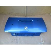 98 BMW Z3 M Roadster E36 #1069 Trunk Lid Estoril Blue