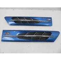 98 BMW Z3 M Roadster E36 #1069 Hood Grill Gill Set Exterior Pair Blue OEM