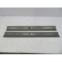 "1995 BMW M3 E36 Coupe #1070 OEM Door Sill Set Pair Grey ""M3 Script"""