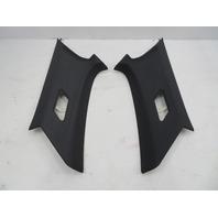 01-06 BMW M3 E46 #1071 Cloth Black C-Pillar Trim Pair Set