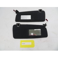 01-06 BMW M3 E46 #1071 Black Cloth Sunvisor Pair