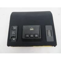 01-06 BMW M3 E46 #1071 Black Cloth Headliner Sunroof & Garage Switch Trim