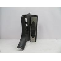 01-06 BMW M3 E46 #1071 Black Footrest Kick Panel Trim