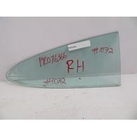 78-83 Porsche 911 SC #1072 Rear Quarter Window Glass, Right Passenger Side