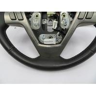 2004-2009 Cadillac XLR #1073 Black Leather & Wood Steering Wheel OEM