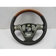 2004-2009 Cadillac XLR #1073 Black Leather & Wood Steering Wheel OEM