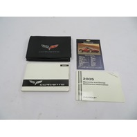 2005 Chevrolet Corvette C6 #1074 Owners Warranty Manual Set & Pouch
