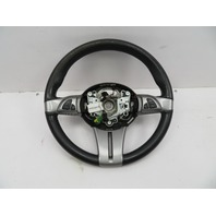2003-2008 BMW Z4 E85 E86 #1075 Black Leather 3 Spoke Steering Wheel W/ Switch