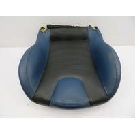 BMW Z3 M Roadster E36 #1077 Sport Seat Leather Bottom Cushion Blue/Black Heated