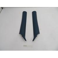 2000 BMW Z3 M Roadster E36 #1077 A-Pillar Trim 8401079 & 8401080 Blue