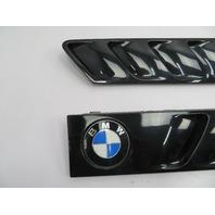 01 BMW Z3 Roadster E36 #1078 Hood Grill Gill Set Exterior Pair OEM Black