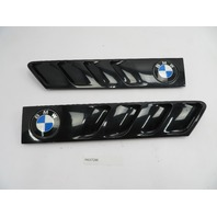 01 BMW Z3 Roadster E36 #1078 Hood Grill Gill Set Exterior Pair OEM Black