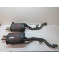 2000 BMW Z3 M Roadster E36 #1079 OEM S52 Quad Tip Exhaust Mufflers W/Mounts