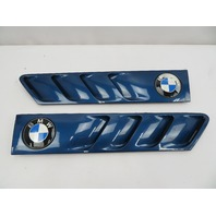01 BMW Z3 Roadster E36 #1080 Hood Grill Gill Set Exterior Pair OEM Blue