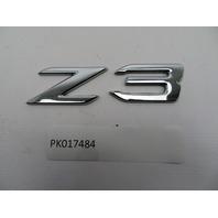 01 BMW Z3 Roadster E36 #1080 OEM Genuine Z3 Trunk Emblem