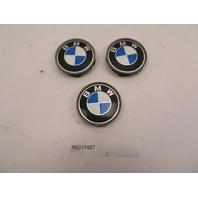 01 BMW Z3 Roadster E36 #1080 OEM Genuine Wheel Center Caps 68mm 3PCS 1095361