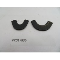 1987-1995 Porsche 928 S4 #1082 Rear Quarter Window Moulding Connection Trim Pair