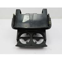 2000-2006 BMW X5 4.4L E53 #1083 Center Console Rear Cupholder Smoke Grey Wood