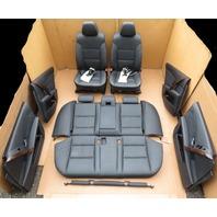 2004-2007 BMW 525i 550i E60 #1084 Black Leather Interior Seats Door Panels