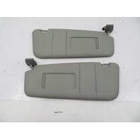 2004-2010 BMW 525i 550i E60 #1084 Grey Sunvisor Shade Pair Left & Right