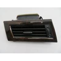 2004-2007 BMW 525i 550i E60 #1084 Left Dashboard A/C Heater Vent POPLAR Wood