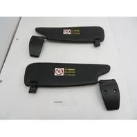 Porsche Boxster S 987 986 #1085 Black Sunvisor Pair Left & Right