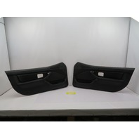BMW Z3 M Roadster E36 #1087 Black Nappa Door Panel W/O Airbag Pair Left Right