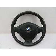 1998 BMW Z3 M Roadster E36 #1087 3-Spoke Leather Steering Wheel & Airbag Black