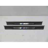 """01-06 BMW M3 E46 #1090 """"M3"""" Script Door Sills Scuff Trim 51478204114 51478204114"""