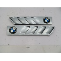 BMW Z3 Roadster E36 #1097 Hood Grill Gill Set Exterior Pair Silver OEM
