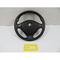 BMW Z3 Roadster E36 #1100 M Sport 3-Spoke Leather Steering Wheel & Airbag