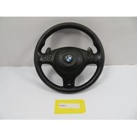 BMW M3 E46 #1102 Black Leather 3 Spoke Steering Wheel SMG Paddles