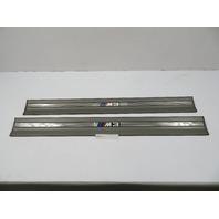 99 BMW M3 E36 Convertible #1103 OEM Door Sill Set Pair Grey