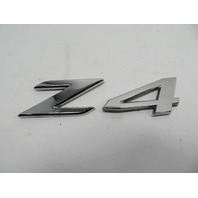 "07 BMW Z4 E85 E86 #1106 Emblem, Trunk Genuine OEM ""Z4"""