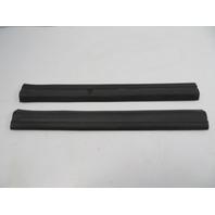 07 BMW Z4 E85 E86 #1106 Trim, Door Sill Carpet Holder Pair Black