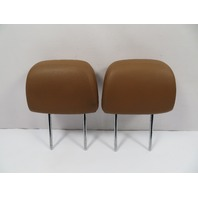 07 BMW Z4 E85 E86 #1106 Headrest Pair, Saddle Brown