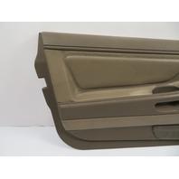 BMW 840ci 850i E31 #1107 Door Panel, Left Parchment Beige