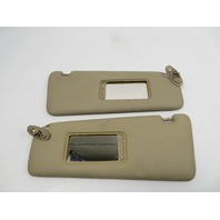 BMW 840ci 850i E31 #1107 Sunvisor, Pair Parchment Beige Leather